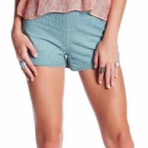 Free People Embroidered Cheeky Shorts High Rise